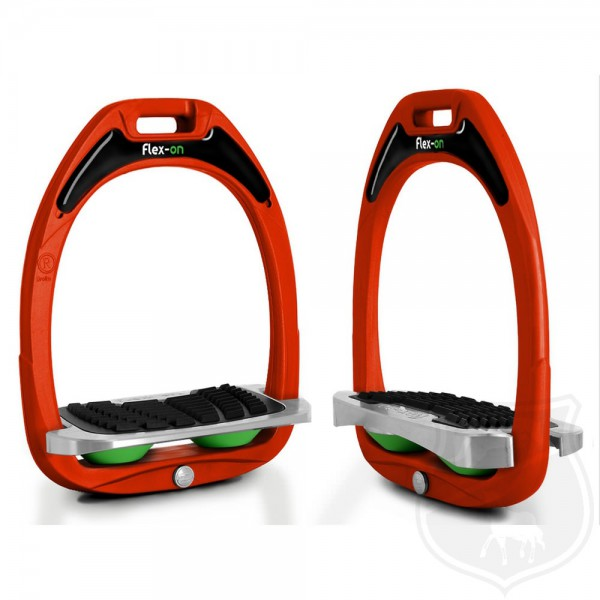 Flex-on Steigbügel Green Composite Line - Orange / Shock Absorber Grün