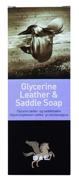 B&E Glycerin Leder- & Sattelseife 250g Riegel/Faltschachtel