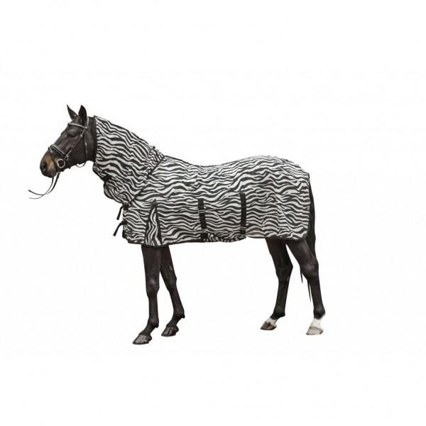 HKM Fliegendecke mit Halsteil -Zebra- mit Bauchlatz