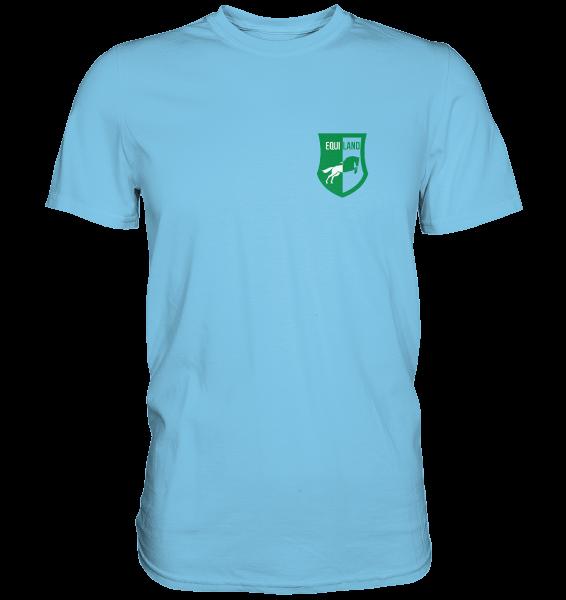 Freizeit Shirt Premium mit Logo - Unisex in sky blue