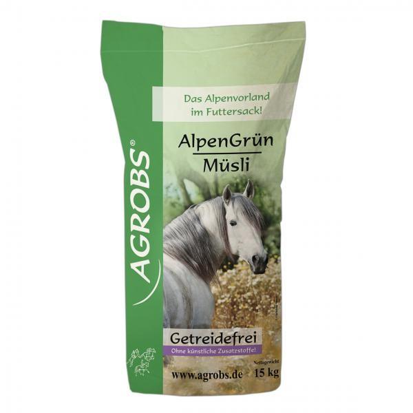 Agrobs AlpenGrün Müsli- Getreidefreier Futter- Mix
