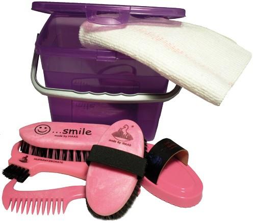 HAAS Kinder-Box lila/pink mit Inhalt