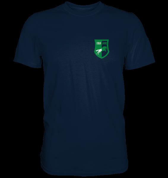 Freizeit Shirt Premium mit Logo - Unisex in navy