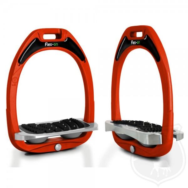 Flex-on Steigbügel Green Composite Line - Orange / Shock Absorber Grau